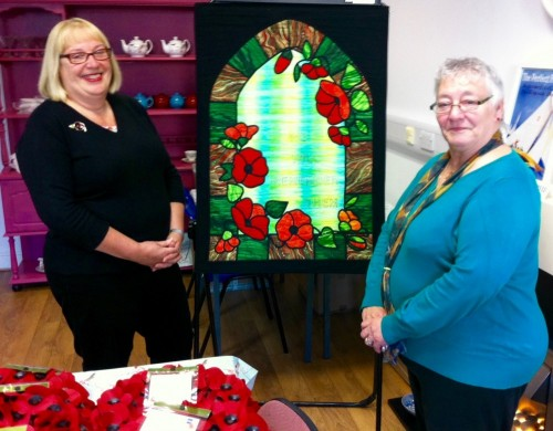 Loftus Mayor attends the blessing of Poppy Wreaths